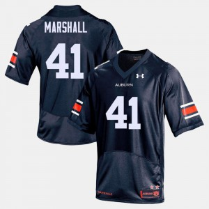 For Men's Navy Aidan Marshall Auburn Jersey #41 College Football 445438-435