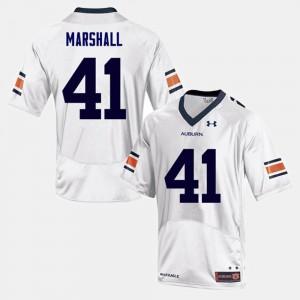 #41 White College Football Aidan Marshall Auburn Jersey Men 609006-320