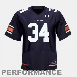 #34 College Football Youth(Kids) Blue Bo Jackson Auburn Jersey 826139-570