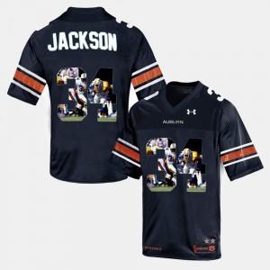 Navy Blue Throwback For Men's #34 Bo Jackson Auburn Jersey 650404-351