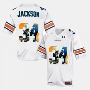Throwback #34 Bo Jackson Auburn Jersey Mens White 332329-612