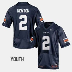 Youth(Kids) Cam Newton Auburn Jersey College Football Navy #2 308067-866