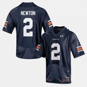 College Football #2 For Men Navy Cam Newton Auburn Jersey 783901-742