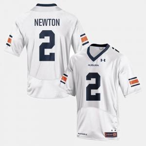 Mens College Football #2 Cam Newton Auburn Jersey White 247637-138
