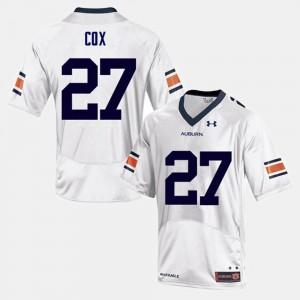 For Men's College Football White #27 Chandler Cox Auburn Jersey 505961-623