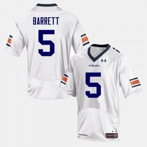 #5 Devan Barrett Auburn Jersey College Football For Men's White 599539-725
