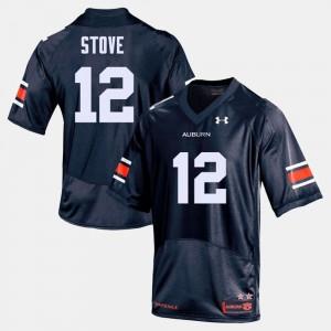 College Football Eli Stove Auburn Jersey For Men's Navy #12 844391-866