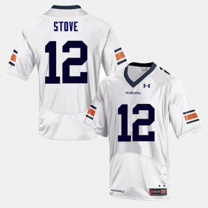 White Eli Stove Auburn Jersey College Football Men's #12 262610-544