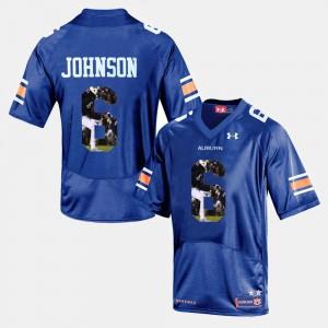 Player Pictorial Jeremy Johnson Auburn Jersey #6 For Men's Navy Blue 925626-490