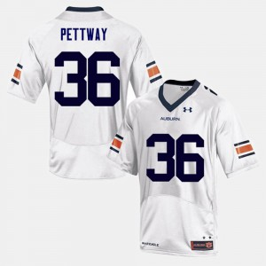 Kamryn Pettway Auburn Jersey Mens White College Football #36 782746-673