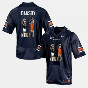 Navy Blue For Men's Player Pictorial #11 Karlos Dansby Auburn Jersey 775208-805