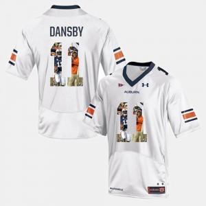 White Karlos Dansby Auburn Jersey Player Pictorial #11 Men 605165-180