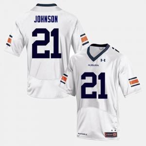 Kerryon Johnson Auburn Jersey College Football #21 Men's White 662583-799