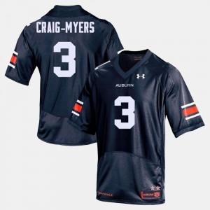 Navy College Football #3 Mens Nate Craig-Myers Auburn Jersey 447551-231