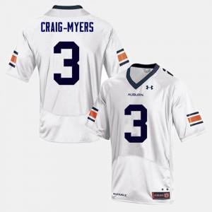 White Nate Craig-Myers Auburn Jersey College Football Men's #3 503969-346