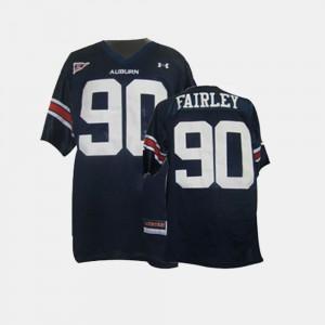 Blue #90 College Football Nick Fairley Auburn Jersey Youth 375019-558
