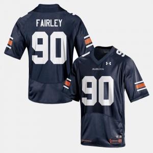 #90 Mens Navy College Football Nick Fairley Auburn Jersey 178194-361