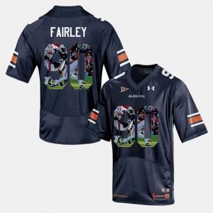 #90 Mens Nick Fairley Auburn Jersey Navy Blue Player Pictorial 365632-688