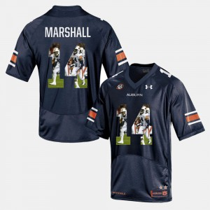 Nick Marshall Auburn Jersey #14 Player Pictorial For Men Navy Blue 764071-603