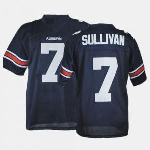 College Football #7 Blue Pat Sullivan Auburn Jersey For Men's 271947-756