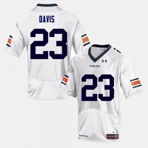 White #23 College Football Ryan Davis Auburn Jersey Men 335567-188