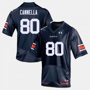 Sal Cannella Auburn Jersey Navy College Football #80 For Men's 558838-118