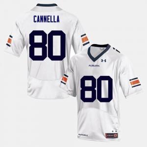 Sal Cannella Auburn Jersey White College Football Men #80 607837-310