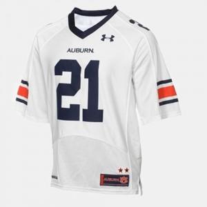 Tre Mason Auburn Jersey Youth(Kids) College Football White #21 277123-734