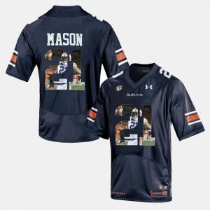 Player Pictorial Tre Mason Auburn Jersey Mens #21 Navy Blue 241164-736