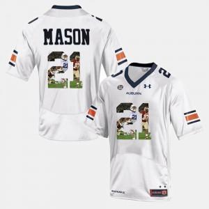 Tre Mason Auburn Jersey #21 Player Pictorial For Men's White 936442-500
