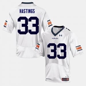 Will Hastings Auburn Jersey White College Football For Men #33 881829-459