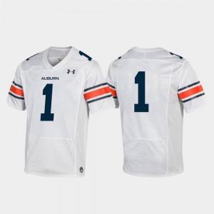 White College Football Men's #1 Auburn Jersey Replica 329374-402