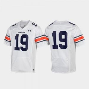 Replica White #19 For Men's Auburn Jersey 720010-862