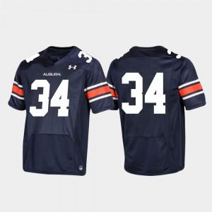 Replica Auburn Jersey Football #34 Men Navy 692738-338