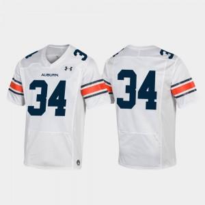 #34 Football Men's Auburn Jersey White Replica 695363-173