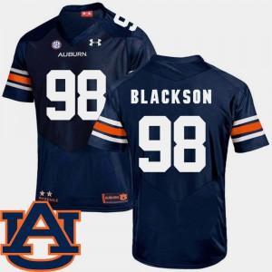 Navy #98 Angelo Blackson Auburn Jersey SEC Patch Replica For Men College Football 244598-921