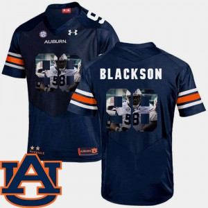 #98 Football Pictorial Fashion For Men's Navy Angelo Blackson Auburn Jersey 954028-605