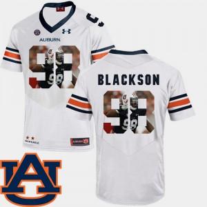 White Football Angelo Blackson Auburn Jersey Pictorial Fashion For Men #98 949206-217