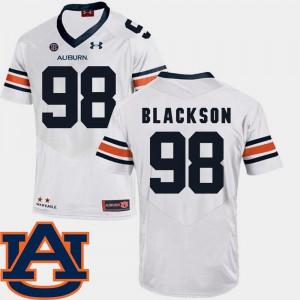 College Football Angelo Blackson Auburn Jersey SEC Patch Replica White #98 For Men's 126849-243