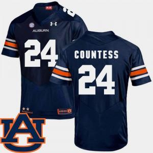 Blake Countess Auburn Jersey #24 Navy College Football Mens SEC Patch Replica 873382-397