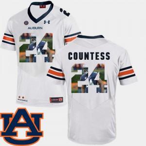 #24 Pictorial Fashion Football For Men Blake Countess Auburn Jersey White 565475-649