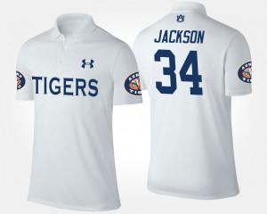 #34 White Bo Jackson Auburn Polo Mens 455042-487