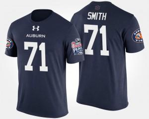Peach Bowl Braden Smith Auburn T-Shirt #71 Bowl Game Navy For Men's 663415-135