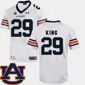SEC Patch Replica College Football Men Brandon King Auburn Jersey White #29 441978-189