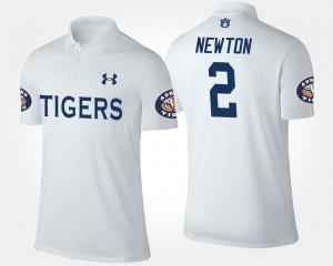 White #2 For Men Cam Newton Auburn Polo 382918-902