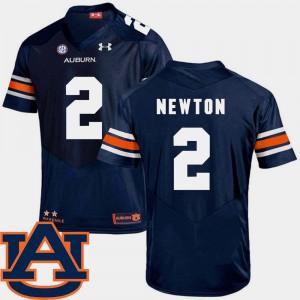 #2 College Football Cam Newton Auburn Jersey SEC Patch Replica Men's Navy 693464-424