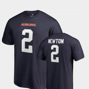 Name & Number Navy Men #2 Cam Newton Auburn T-Shirt College Legends 466219-417