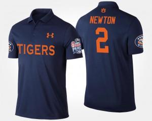 Cam Newton Auburn Polo Peach Bowl Bowl Game Navy Men #2 211334-505