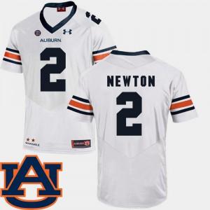 College Football #2 SEC Patch Replica White Men's Cam Newton Auburn Jersey 409443-913