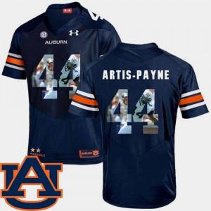 For Men's Navy Football Cameron Artis-Payne Auburn Jersey #44 Pictorial Fashion 943091-962